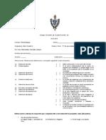 Examen Historia de Mexico II 3o Sec 2o Bim