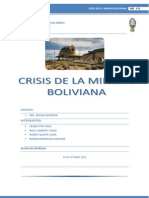 Crisis de La Mineria Boliviana