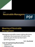 Receivable Management