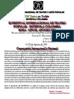 Convocatoria Entepola Colombia Bosa- Nuevo Chile 2013