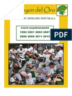 2013 Canyon del Oro Softball Digital Program