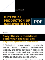 Microbial Production of Nanoparticles