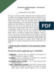 Presumptive Taxation for Small Enterprises