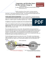 Steering and Suspension Basics