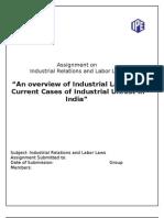 Industrial Disputes -A Case of Maruti Manesar