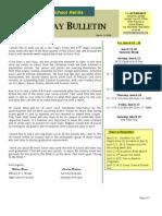 HS Friday Bulletin 03.13.09