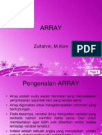 Pertemuan III - Array