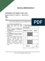 Kertas 2 Penulisan Bahasa Melayu Tahun 3