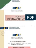 Week03-FCC 133 Search Tools