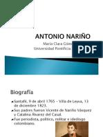 Unidad 2 Antonio Nariño - María Clara Gómez Castaño