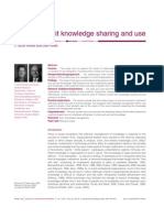 Trust and Tacit Knowledge Sharing