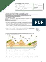 Ficha de Avaliação de Ciências Naturais Do 7ºAno - HistTerra Estrutura Interna, Deriva e Tectónica