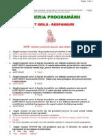 Test Grila - Raspunsuri