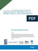 Architecture - EMC VNX - NFS for Vmware vSphere 4.1 - XenDesktop 5