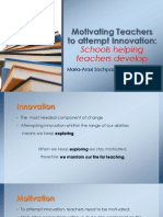 Motivating Teachers to Attempt Innovation TEASER for TESOL GREECE Blog