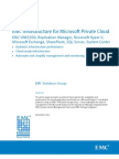 White Paper - EMC Infrastructure for Microsoft Private Cloud