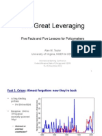 The Great Leveraging (Taylor NBER & CEPR November 2012)