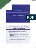 Economics 102 Lecture 1 the Market Rev