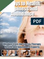 15 Ways to Health Happiness and Abundance