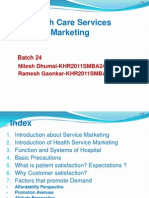 Service Marketing--Health Care Service MARKETING
