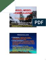 Model Pembelajaran 2009