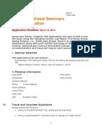 Media Course 2013 Kenya Global Seminar Application