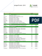 Aclass Course Prices 2013