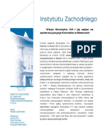 Natalia Jackowska - Wizyta Benedykta XVI i jej wpływ na społeczną pozycję Kościołów w Niemczech