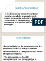 Raw Material for Fermentation