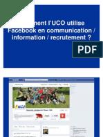 Utilisation de facebook dans la communication de recrutement à l'UCO
