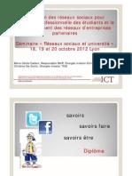 """Présentation """"Réseaux sociaux et insertion professionnelle"""""""