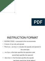 Instruction Format 8051