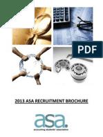 2013 asa recruitment brochure