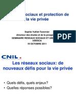 Présentation de Sophie Vulliet-Tavernier (CNIL)
