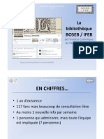 Utilisation de facebook par la bibliothèque de l'ICP