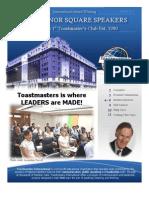 Grosvenor Square Speakers Newsletter 2013