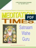 April Times - Satnam Wahe Guru