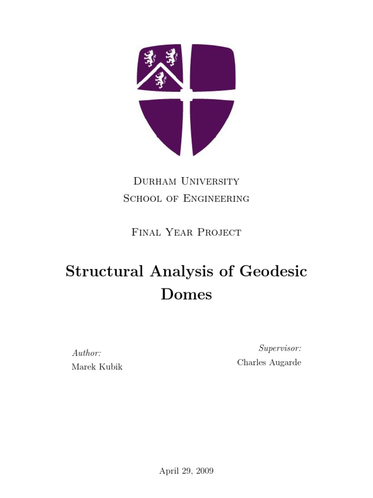 Structural Analysis of Geodesic Domes | Sphere | Triangle