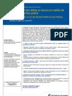 Rationalisation des référés et recours en matière de contrats et marchés publics