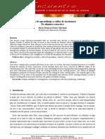 Estilos de aprendizaje y estilos de enseñanza, Pastor Martínez, M. R. (artículo)