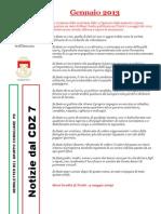 Newsletter di GENNAIO 2013 del Gruppo Consiliare PD di Zona 7-Milano