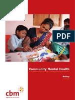 CBR Policy Mental Health Services Context CBR April 2002 0