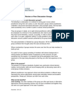 Guidance for Peer Discussion Groups