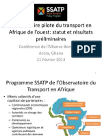 Observatoire pilote du transport en Afrique de l'ouest