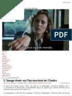 L'image-fente ou l'inconscient de l'Index | Parergon
