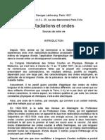 Radiations Et Ondes Lakhovsky