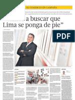 """""""Vamos a buscar que Lima se ponga de pie"""""""