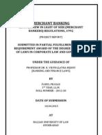 Merchant Banking [In The Light Of SEBI (Merchat Bankers) Regulations, 1992]