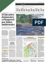 El Ejecutivo denunciará a PlusPetrol por daños ambientales