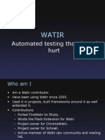 Web Application Testing using Watir